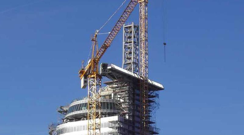 2007 Atlantic-Hotel Sail-City Bremerhaven – Aussichtsplattform und Fachwerkturm bis +148 müNN