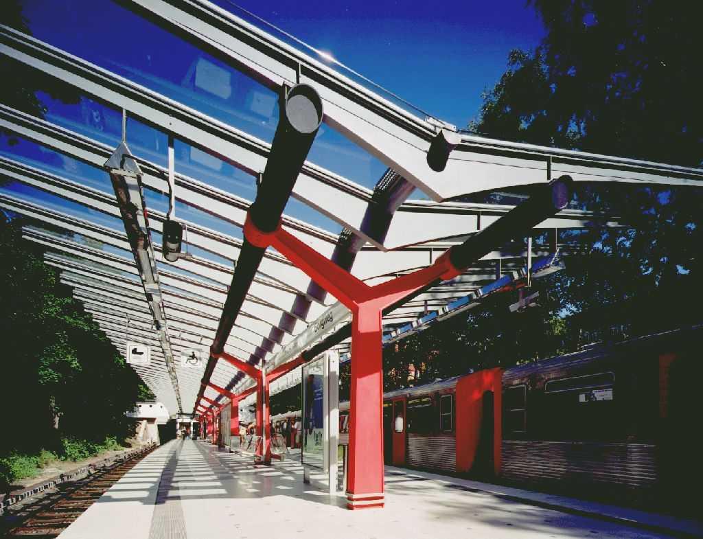 Hamburger Hochbahn AG - U-Bahn Haltestelle Borgweg - Buthmann Ingenieur-Stahlbau AG aus Glinde bei Hamburg