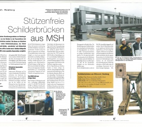 2001VallourecMannesmann Tubes MagazinGroßschilderbrücken am Hamburger Elbtunnel
