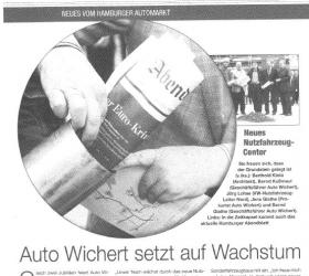 Oktober 2011Hamburger-AbendblattAutohaus Wichert setzt auf Wachstum