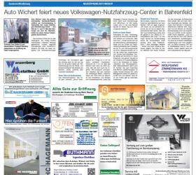 5. Oktober 2012Hamburger AbendblattNeueröffnung Auto Wichert.