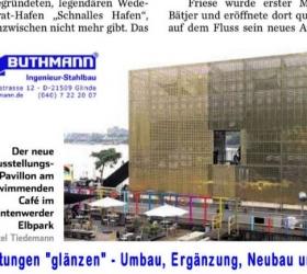 9. Dezember 2015Hamburger Abendblatt zur Einweihung des Goldenen Pavillons Entenwerder