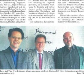 10. November 2015  Glinder Zeitung Sachsenwald  Übergabe an die dritte Generation
