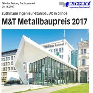 28. November 2017 Glinder Zeitung Sachsenwald  Gewinn Metallbaupreis 2017