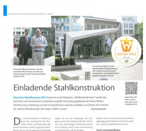 Dezember 2017 Coleman Verlag Einladende Stahlkonstruktion