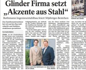 7. November 2005Bergedorfer ZeitungButhmann Ingenieurstahlbau feiert 50jähriges Bestehen