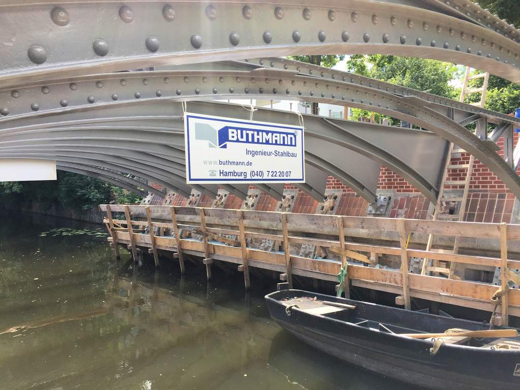 Stahlbau Hamburg - Grillparzer Brücke, Hamburg 10