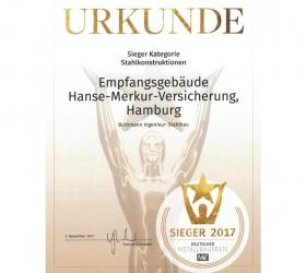 6. November 2017 Siegerobjekt Metallbaupreis 2017