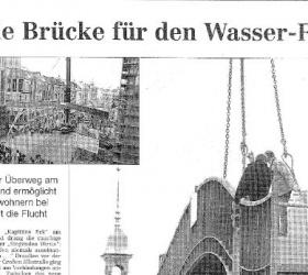 19. Februar 2001Hamburger AbendblattDie Brücke für den Wasserfall