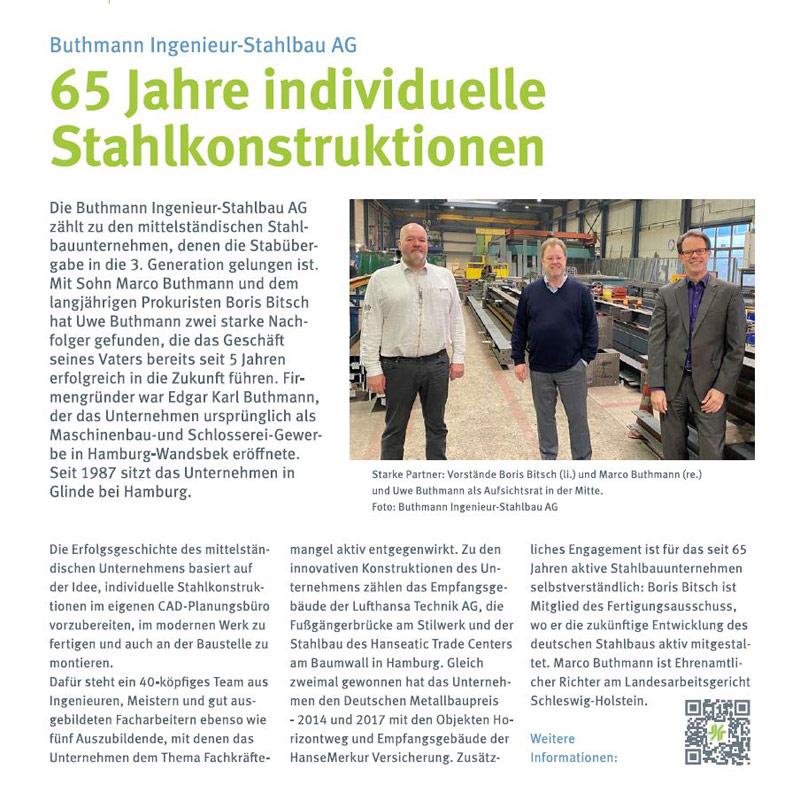 65 Jahre individuelle Stahlkontruktionen