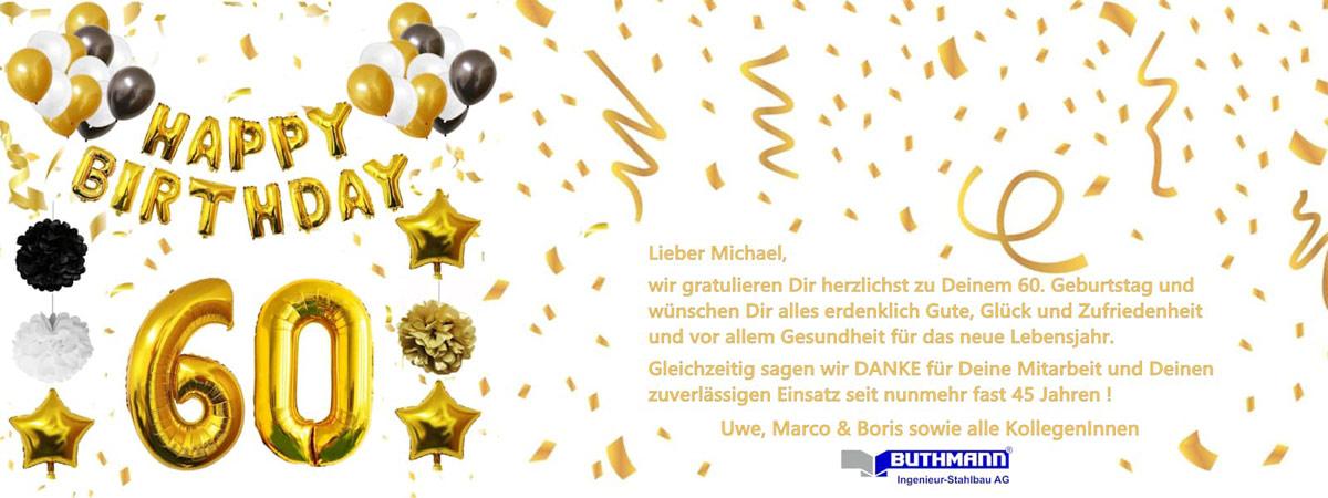 Wir GRATULIEREN unserem Fertigungsleiter Herrn Michael Leiß